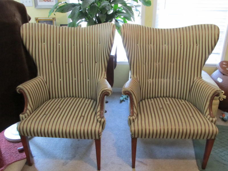 Mid Century Butterfly Wing Chairs Before ~ Craigu0027s List Coup