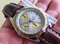 BREITLING CHRONOGRAPH WHITE SILVER TEXTURED DIAL - AUTOMATIC