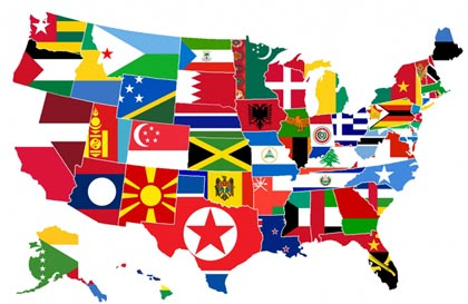Blue sky gis maps in comics flag maps two fer this is a map showing the states as the flags of the various nations around the world that have similar sized populations so please no trolling from any gumiabroncs Image collections
