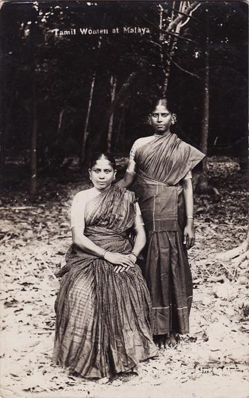 Post Card of Two Tamil Women at Malaya