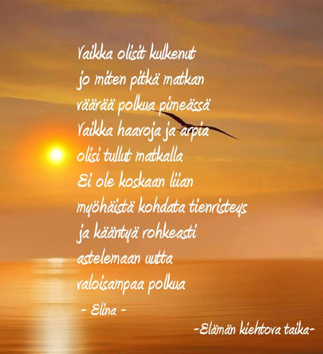 huomenta rakas runo Imatra