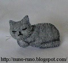 Gray cat relax