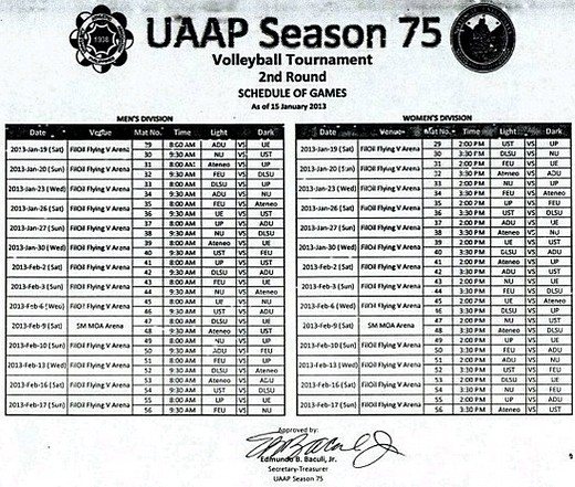 UAAP Season 75 Women's Volleyball 2nd Round Schedule: Check It Out!