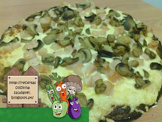 Pizza de Fiambre e Cogumelos