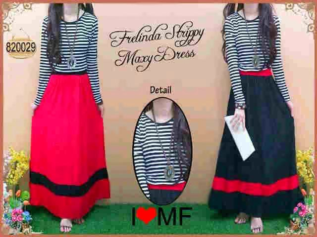 Frelinda Strippy Maxy Dress