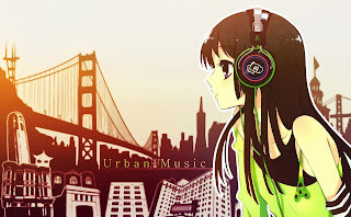 Anime Girl Headphones City Bridge HD Wallpaper