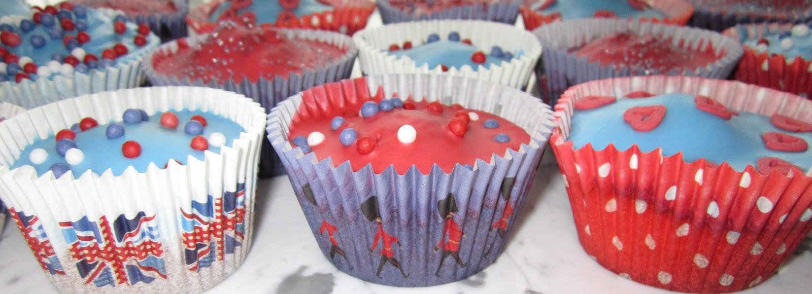 Sainsbury S Cake Decorations Sprinkles : Blueberry Days: Union Jack Cupcakes