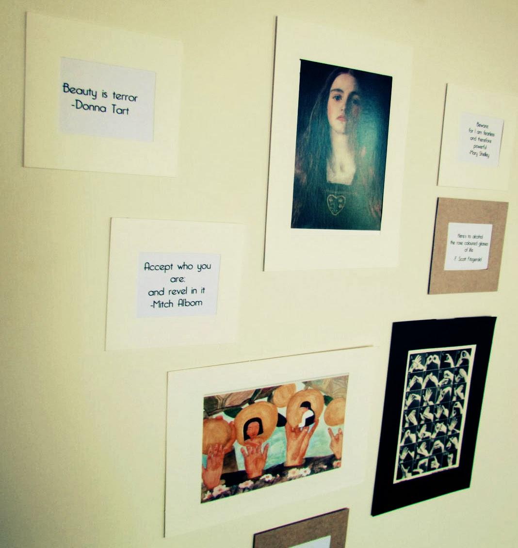 BookaCuppa DIY quotes display