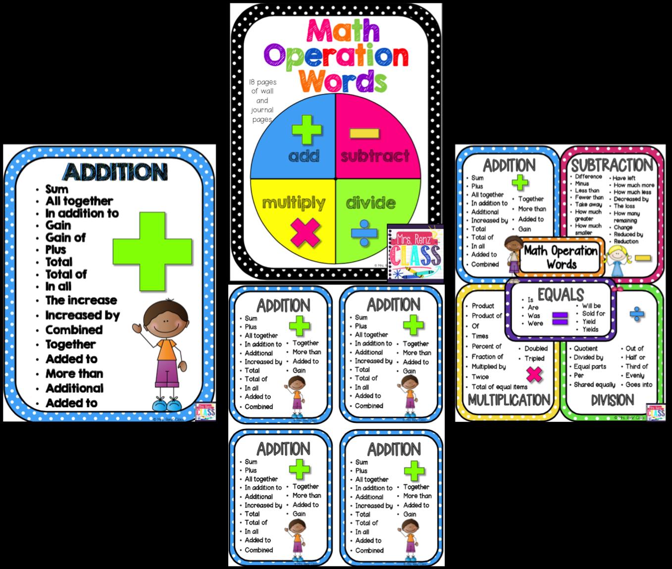 worksheet. Math Key Words. Duliziyou Worksheets for Elementary ...