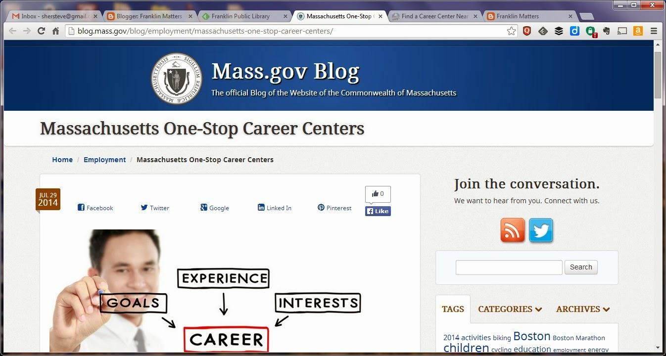 MA Career centers