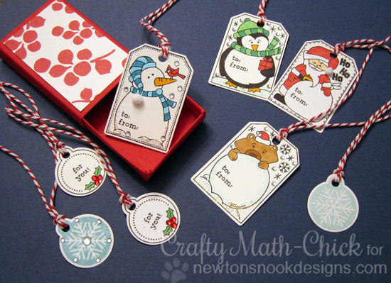 Set of Tags by Crafty Math-Chick | Jolly Tags Stamp and Die Set by Newton's Nook Designs #newtonsnook