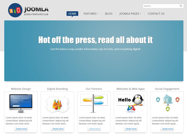 SJ Joomla3 Template