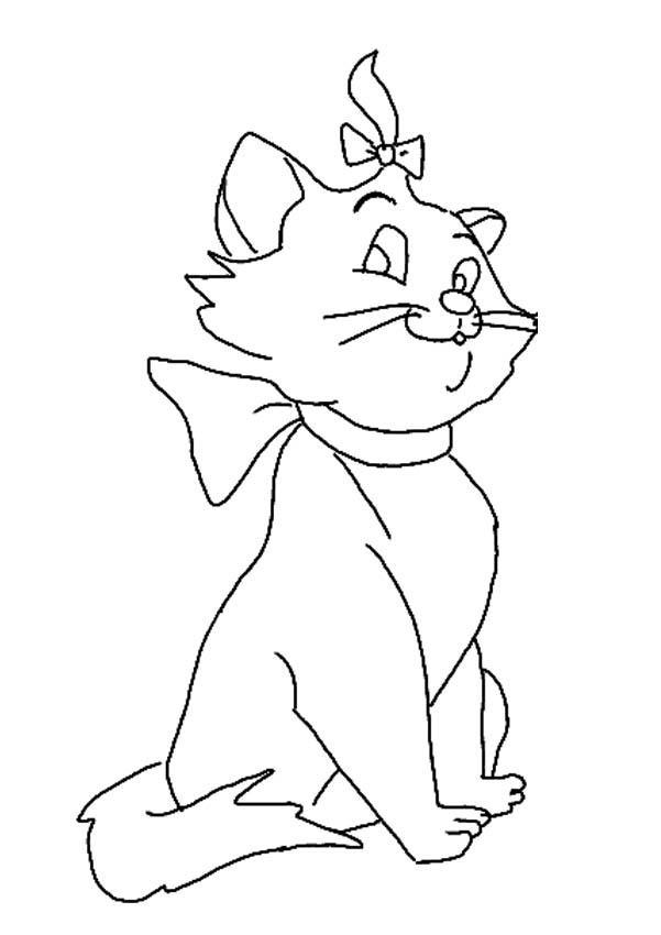 marie the cat coloring pages - photo#23