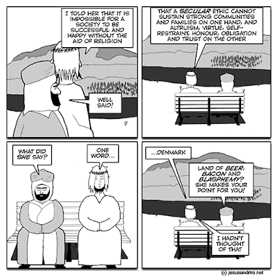 Jesus and Mo on Denmark - the land of beer, bacon and blasphemy