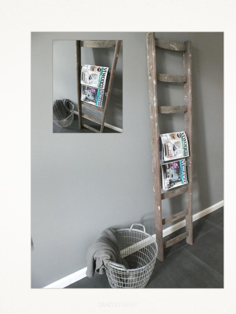 Houten ladder decoratie - Houten interieurdecoratie ...