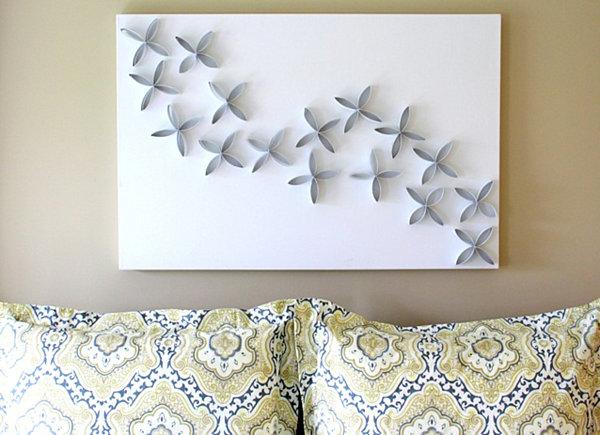Как украсить стену своими руками из подручных