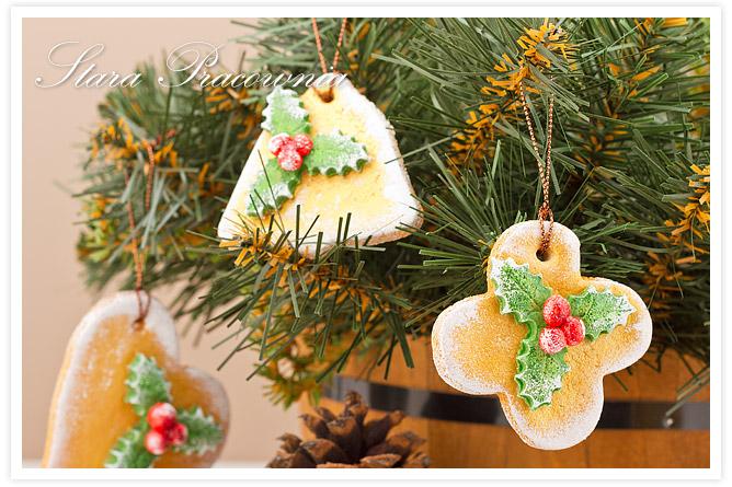 Zawieszki na choinkę z masy solnej, Ozdoby na choinkę z masy solnej, Ozdoby świąteczne z masy solnej, masa solna