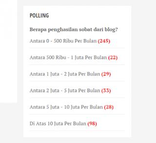 polling pendapatan blogger
