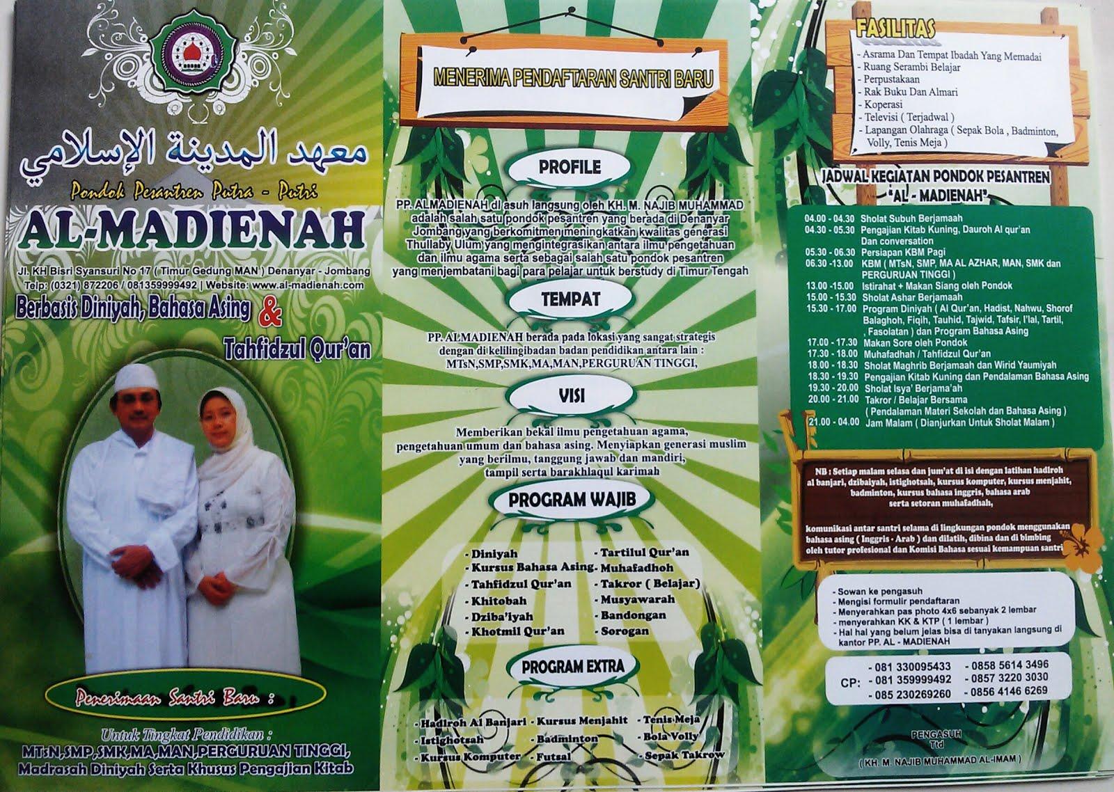 Brosur PP. Al-Madienah