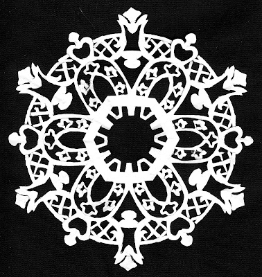 Medallion, Matisse, lattice, Sarah Myers, S. Myers, cut paper, arte, design, art, repeat, modern, white, snowflake, cut-out, arches, flowers, contrast