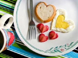 Desayunos Romanticos para San Valentin, Presentación del Huevo
