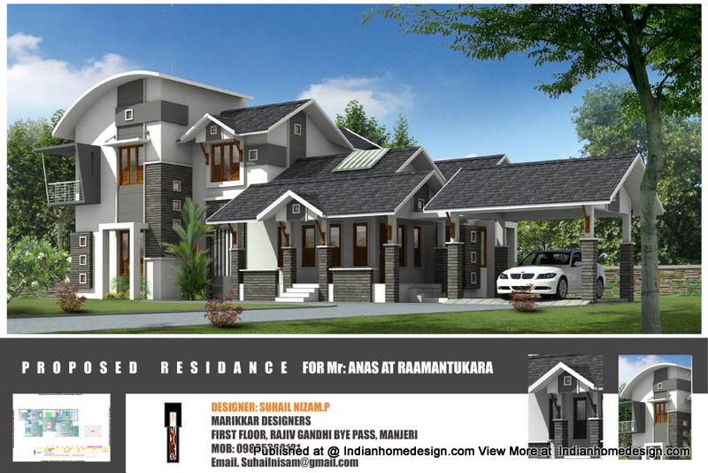 Here is Beautiful house pictures of a kerala 2222 sqft home ,included ...