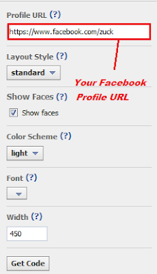 Facebook Follow Button on Blogger