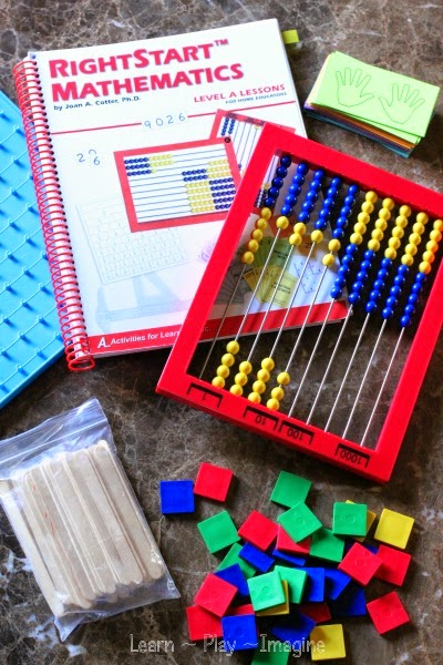 RightStart Math homeschool curriculum - Montessori inspired hands on math program