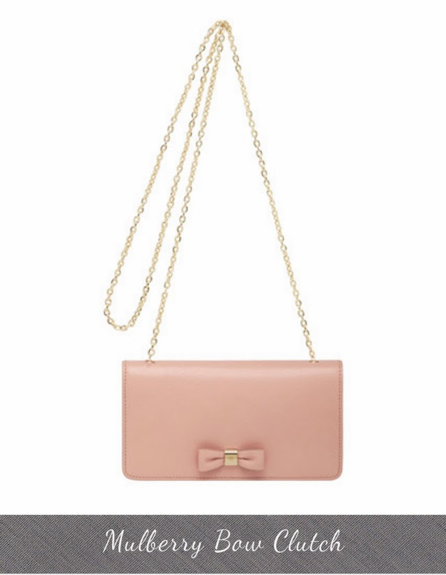 Mulberry Spring Summer 2014 bags bow clutch chain wallet bag