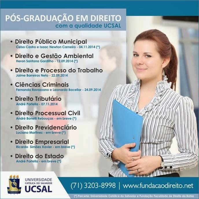 PÓS-GRADUAÇÃO UCSal