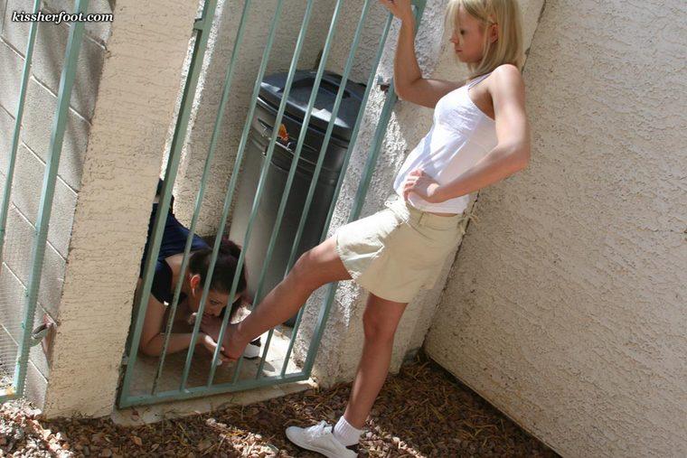slave in cage