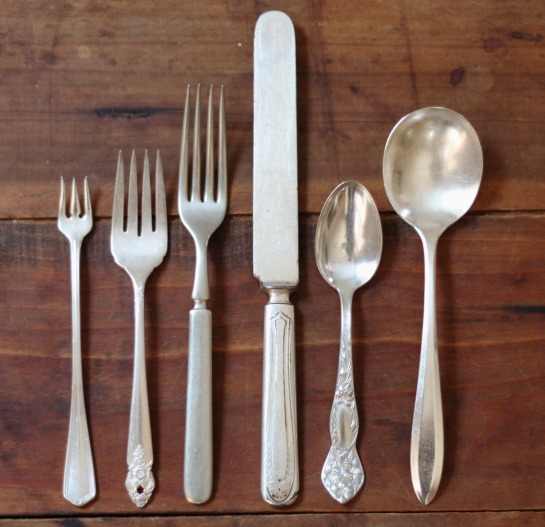 17 Apart: Digging Around: Our Set Of Antique Mixed Silverplate Flatware