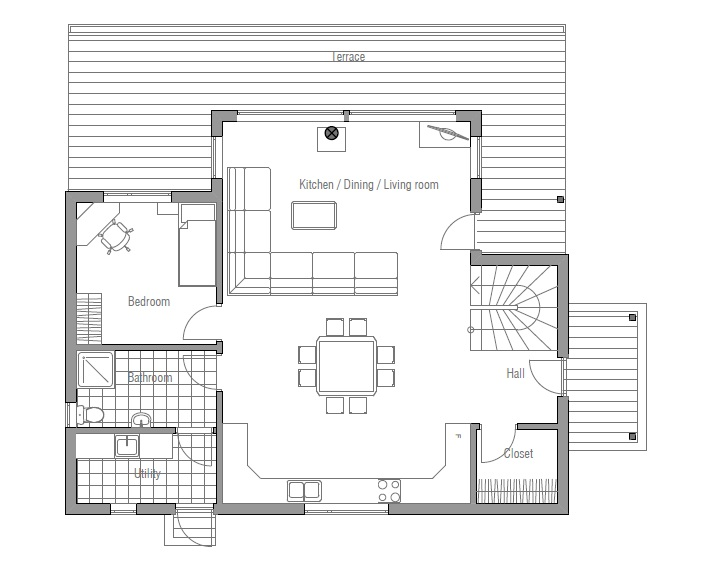 Affordable home plans affordable home plan ch102 for Affordable housing floor plans