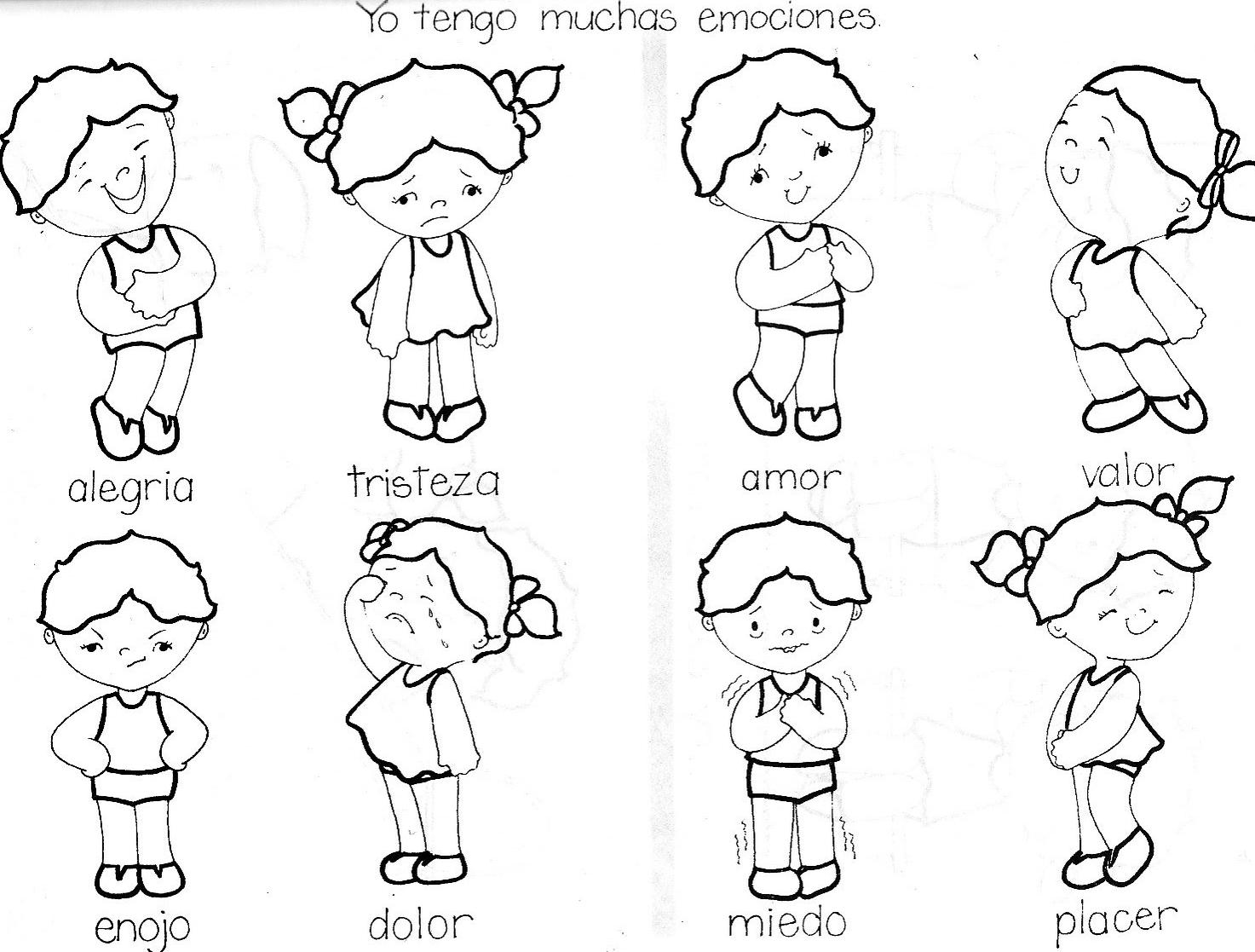 Dibujos Para Colorear Mis Emociones ~ Ideas Creativas Sobre Colorear
