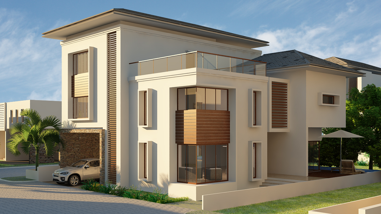 3d designing services - Painting exterior render model ...