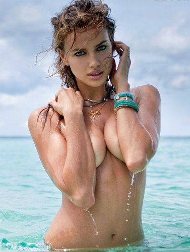... off their bikini tops for this year's Sports Illustrated Swimsuit issue, ...