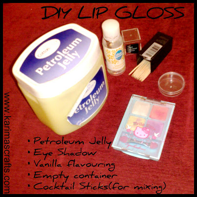 DIY lip balm gloss tutorial