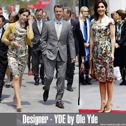 Princess Mary Dress OLE YDE Dress and HUGO BOSS Clutch