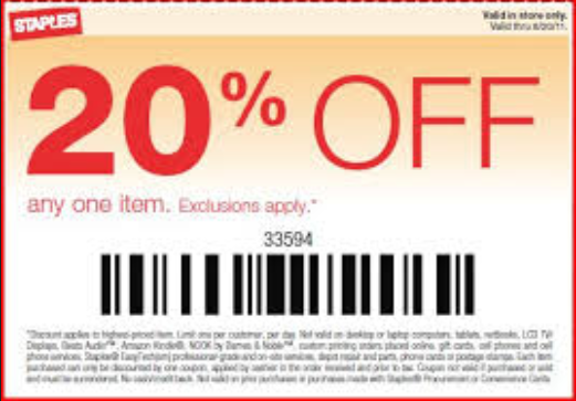 Www staples coupons