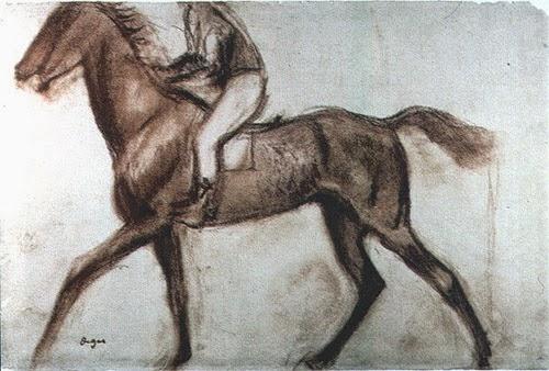 Degas. Estudio de caballo