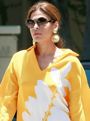 Eva Mendes Gold Earrings