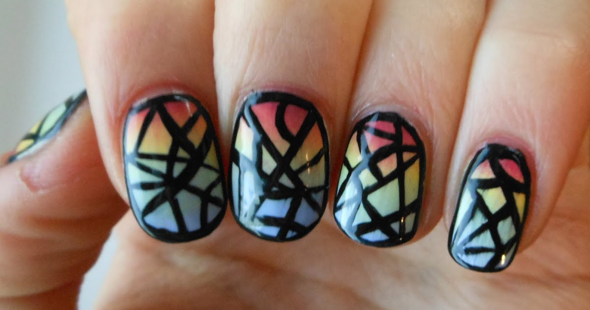 Holy Grail Nails: How-To: Easy Stained Glass Nail Art