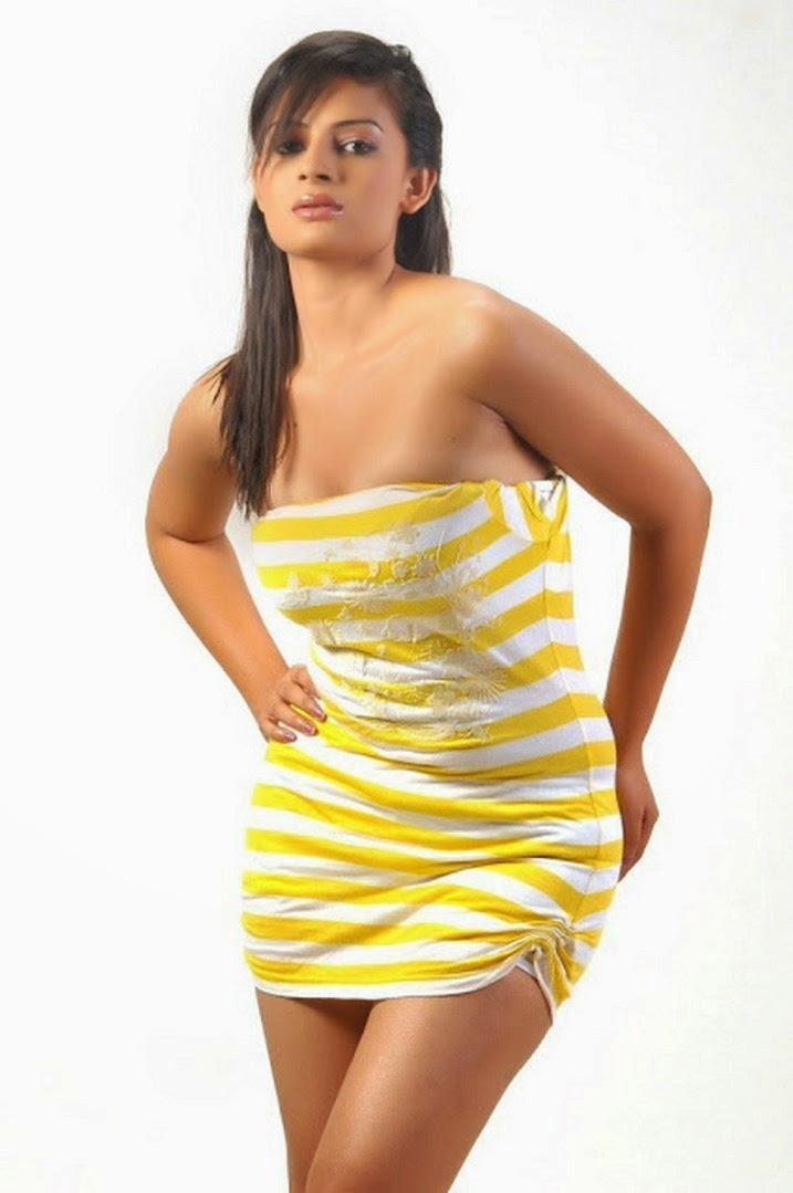 Anuhya Reddy yellow sexy dress