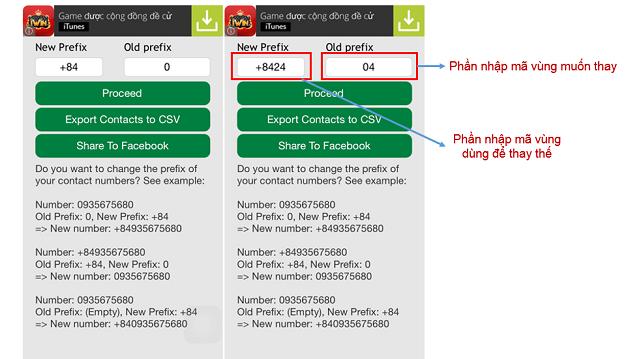 Cách đổi đầu số mã vùng trên điện thoại