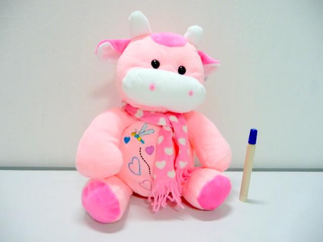 Boneka Sapi Pink Syal L CW008