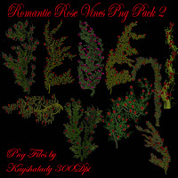 Romantic rose vines pack 2 Png Tubes
