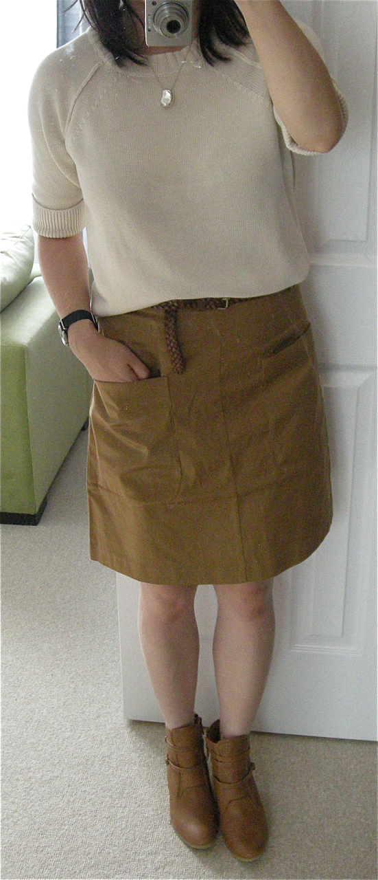 h m A-line Skirt With