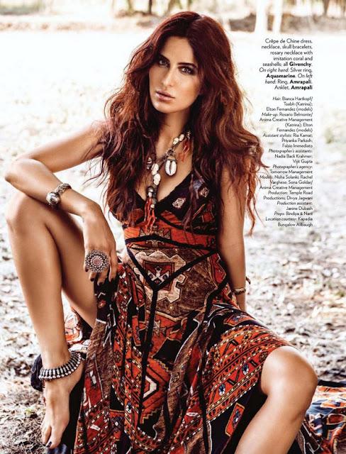 Bollywood Katrina Kaif Vogue Hot Photo Shoot Pics