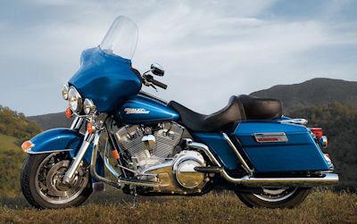 Motocicleta Harley Davidson FLHT Electra azul
