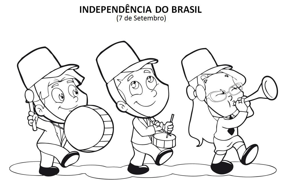 Melhores desenhos para colorir dia da Independência do Brasil